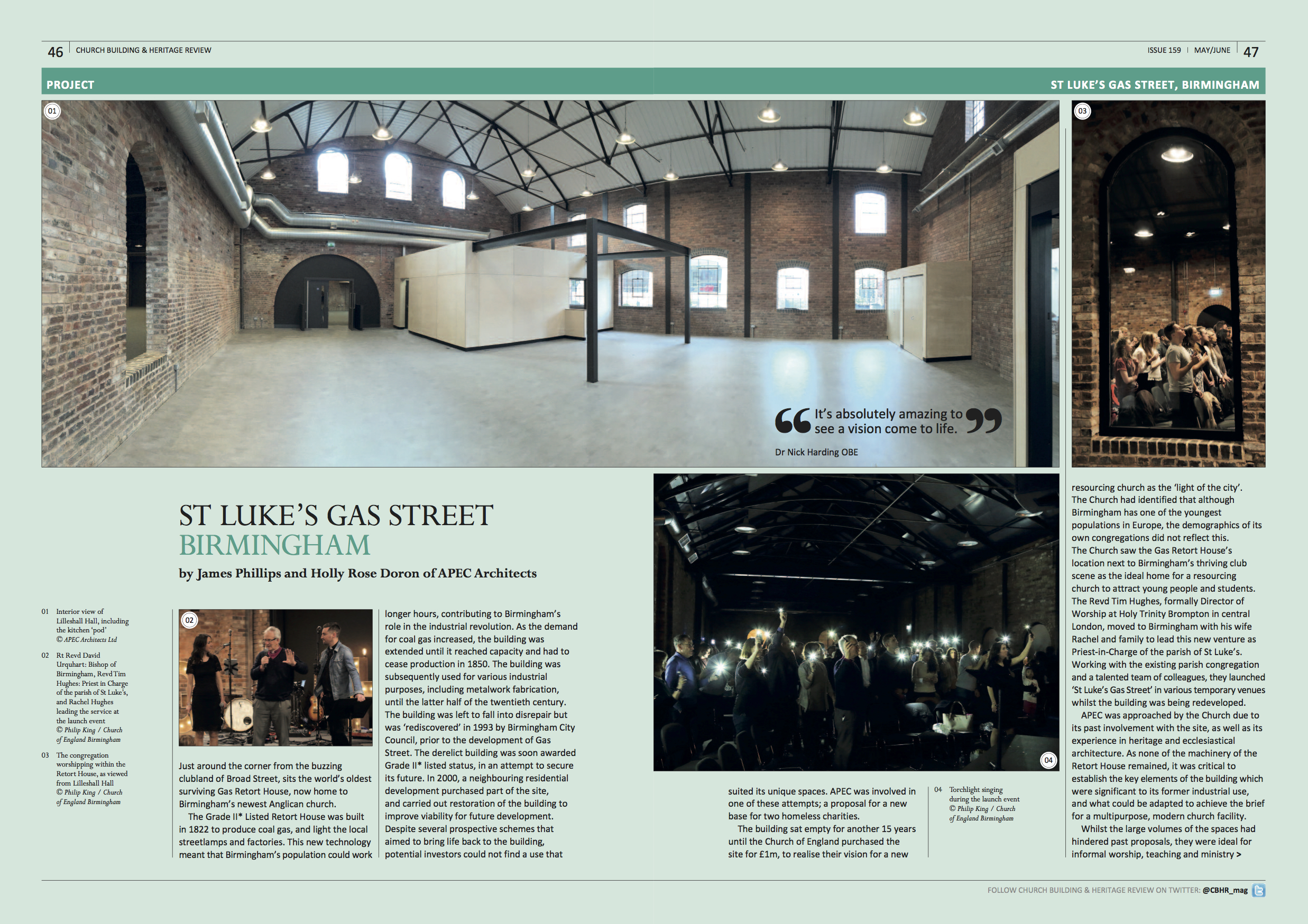St Luke's Gas Street features in the Church Building & Heritage Review